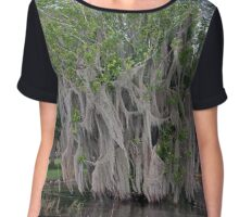 Spooky Swamp Tree Chiffon Top