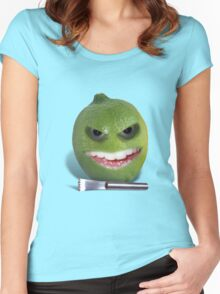 Beware the Lime with the Lemon Zester Women's Fitted Scoop T-Shirt