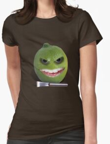 Beware the Lime with the Lemon Zester Womens Fitted T-Shirt
