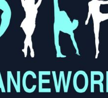 DanceWorks Sticker White Border Sticker