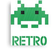 Retro - Invader Textured Canvas Print