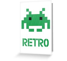 Retro - Invader Textured Greeting Card