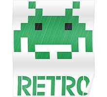 Retro - Invader Textured Poster