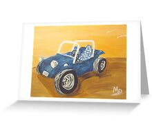 blue dune buggy Greeting Card