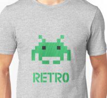 Retro - Invader Textured Unisex T-Shirt