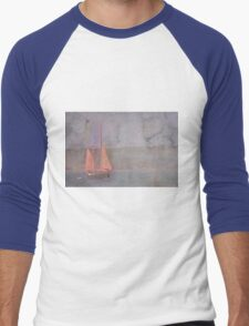 Sailing the Channel Men's Baseball ¾ T-Shirt