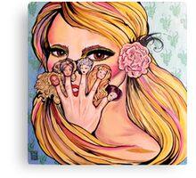 Barbie Fingers Canvas Print