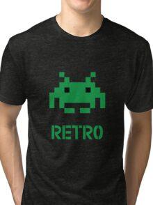 Retro - Invader Tri-blend T-Shirt