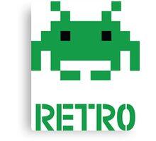 Retro - Invader Canvas Print