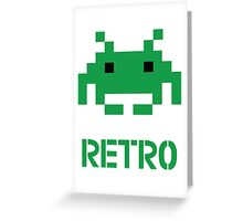 Retro - Invader Greeting Card