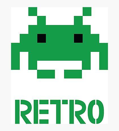 Retro - Invader Photographic Print