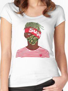 Lil Kakashi Uzi Women's Fitted Scoop T-Shirt