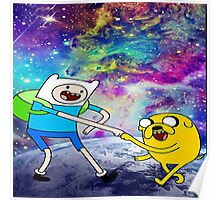 adventure time galaxy Poster