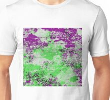 Purple Meets Green - Abstract Painting Unisex T-Shirt