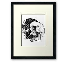SLICED SKULL Framed Print