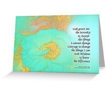 Serenity Prayer Peonies Yellow Green Greeting Card