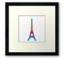 eiffel tower rainbow  Framed Print