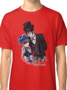 black butler sebastian with a top hat ciel dressedup Classic T-Shirt