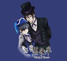 black butler sebastian with a top hat ciel dressedup Unisex T-Shirt