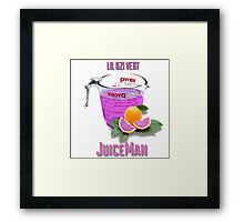 Juice Man Framed Print