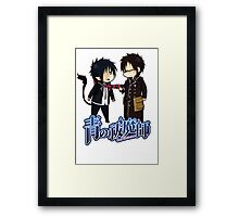 blue exorcist rin and yuki chibi Framed Print