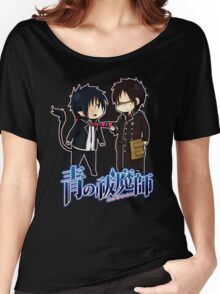 blue exorcist rin and yuki chibi Women's Relaxed Fit T-Shirt
