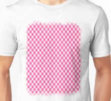 Pink Roses in Anzures 1 Gingham 1 Unisex T-Shirt