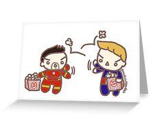 Popcorn Wars Greeting Card