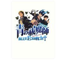 blue exorcist full team  Art Print