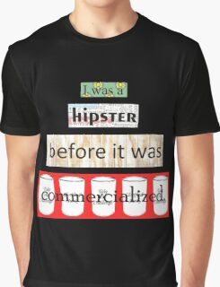 Hipster Commercialized Graphic T-Shirt