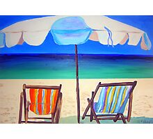 Umbrella Beach  Photographic Print