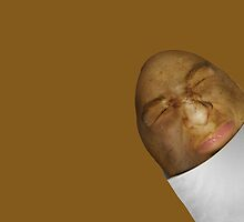 Grimacing Potato Face  by Gravityx9