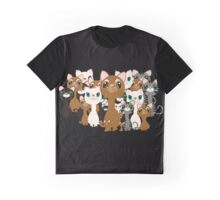 Herd of cats in black Graphic T-Shirt