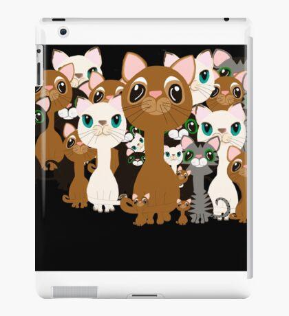 Herd of cats in black iPad Case/Skin