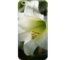 Divine Glow - Illuminated Pure White Easter Lily iPhone Case/Skin