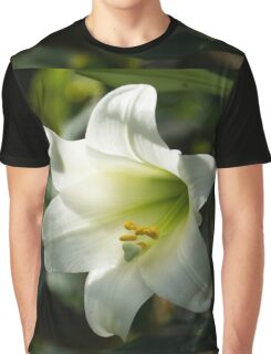 Divine Glow - Illuminated Pure White Easter Lily Graphic T-Shirt