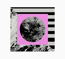 Stripes In Space - Abstract Geometric Painting in Pink, Black and white Unisex T-Shirt