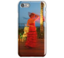 Flamenco on the beach iPhone Case/Skin