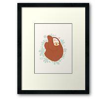 Momma Sloth Framed Print