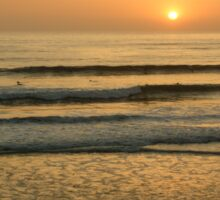 Golden California Sunset - Pacific Beach, San Diego Sticker