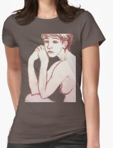 Lounging Girl Womens Fitted T-Shirt
