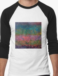 Abstract Landscape Series - Wildflowers Men's Baseball ¾ T-Shirt