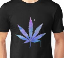 Water Colour Marijuana Leaf Unisex T-Shirt