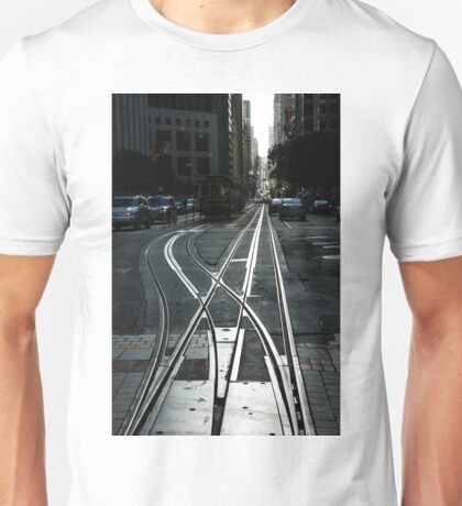 San Francisco Silver Cable Car Tracks Unisex T-Shirt