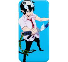rin and his demon sword iPhone Case/Skin
