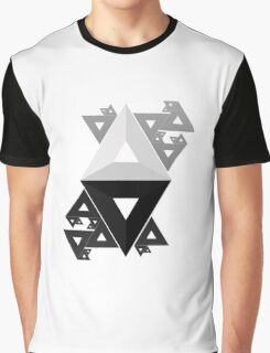 Triangle ALPHA Pattern  Graphic T-Shirt