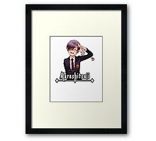 ciel with a salute and smile Framed Print