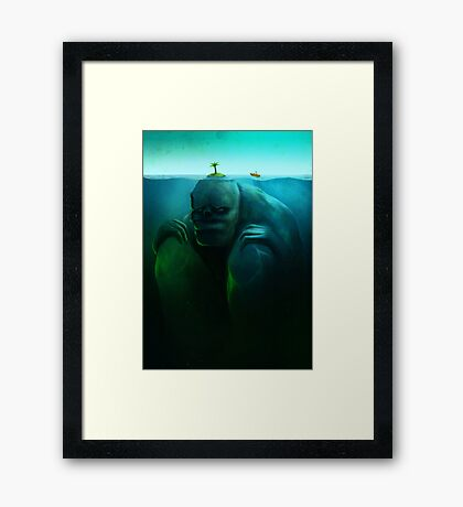 Lonely Island Framed Print