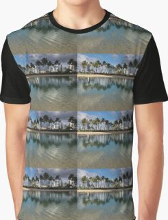 Palm Trees, Crystal Clear Lagoon Water and Tropical Fish Graphic T-Shirt