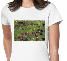 Vivid Fuchsia Waterlilies Womens Fitted T-Shirt